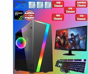 i3 9100F i5 9400F i7 9700 RGB Gaming PC 2TB + 480GB SSD 16GB GTX 1660 Computer