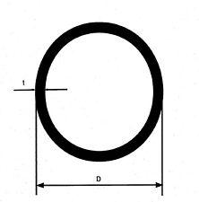 50 cm  V2A Edelstahlrohr Rohr D=15x1,5 mm geschl. K240