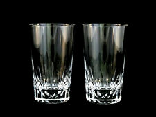 Baccarat Crystal Spear Cut Tumblers Highballs Glasses Set of 2