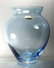Bohemian Pale Blue Crystal Vase made in Czech Republic Size 8 ¼ inch. Tall