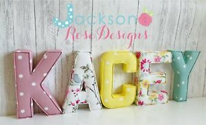 Nursery letters Wall Art Handmade Fabric name, personalised, girl, boy