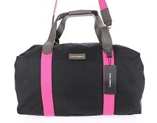 NEW $1300 DOLCE & GABBANA Black Pink Nylon Leather Travel Gym Hand Shoulder Bag