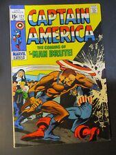Marvel Comics Captain America # 121 / Man  Brute1970 Vintage Comic Book