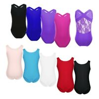 Girls Kids Gymnastics Ballet Dance Classic Leotards Training Uniform Dancewear