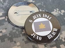 BADGE *** 6 juin 1944 - JUNO BEACH - canada Débarquement NORMANDIE ww2 june 1944