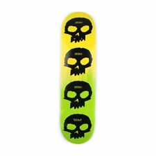 Zero Skateboards Multi Skull Two Tone 8.25″ Deck – Yellow Green