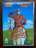 Dudley Do-Right DVD 1998 Canadese Mounty Famiglia Film Cabaret W/Brendan Fraser