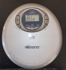 Memorex Portable (MD6883SIL) Personal CD Player Digital AM/FM Tuner Gray