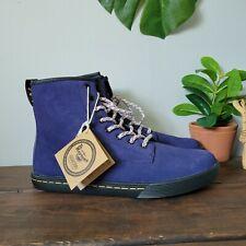 Dr Doc Marten Sheridan Sneaker Boots Blue Purple Womens Size 9