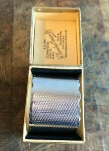 Sterling Silver Napkin Ring. Engine Turned Finish. Gorgeous Box. Birmingham 1949