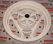 "1989-1990 Ducati 906 Paso 50220031A 5.0"" X 16"" white rear wheel with cush drive"