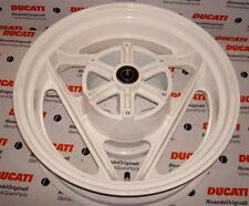 "1989-1990 Ducati 906 Paso 50220031A 5.0"" X 16"" white rear wheel with cush drive"