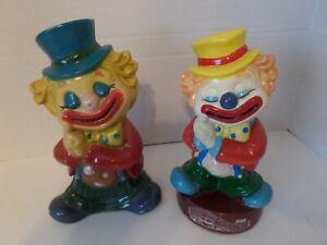 """Big Top Bonanza Del Monte"" Piggy Banks Figurines Plastic Lot/2 Circa 1980's"