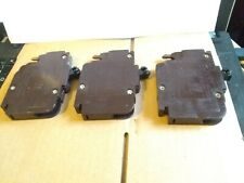 LOT OF 3 FEDERAL PACIFIC NC15 NC (THIN) 1 POLE 15 AMP STAB-LOK CIRCUIT BREAKERS