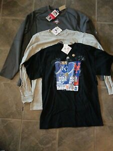 NY Mets Lot 3 TShirts Batting Practice Pullover Jersey MLB Majestic World Series