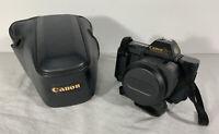 Vintage Canon T80 35mm SLR Film Camera w/ AC 50mm 1:1.8 Lens & Case   Japan
