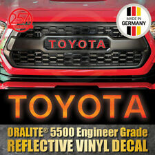TOYOTA TRD PRO Grille REFLECTIVE RED Decal 2016-2018 TACOMA Grill Sticker Letter