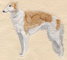 Large Embroidered Zippered Tote - Borzoi C9604