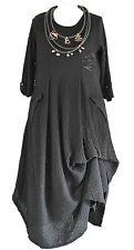 FAB GERMAN ZEDD.PLUS quirky/lagenlook BLACK  parachute dress M/L