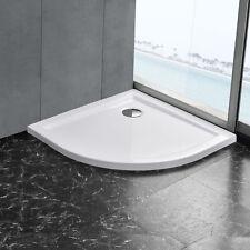 [neu.haus]® Duschwanne 90x90cm reinweiß Duschtasse Viertelkreis extra flach Bad