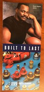 Walter Payton on Cover of ITT Bell & Gossett Pamphlet All Pro Hall of Fame LOOK!