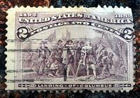 Very Nice First Commemorative issue 1893 Columbian Issue 2c Stamp Scott# 231 J87