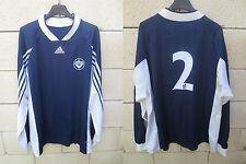 Maillot GIRONDINS DE BORDEAUX porté n°2 ADIDAS manches longues vintage shirt XL