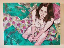 RARE ORIGINAL PAINTING ARTIST GRETCHEN DIEHL ART INSTITUTE OF PHILADELPHIA 3'x4'