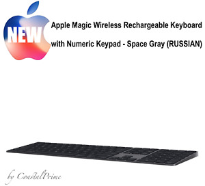 NEW Apple Magic Keyboard Numeric Keypad Wireless Rechargeable Space Gray RUSSIAN