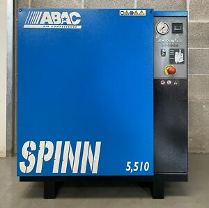 ABAC Spinn 5.510 Floor Mounted Rotary Screw Compressor, 5.5Kw! 25Cfm! 10Bar!