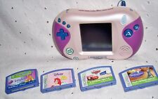 LEAPSTER 2  BY LEAP FROG CONSOLE + 4 GAMES-TANGLED-RATATOUILLE-CARS- PRINCESS
