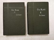Histoire de Gil Blas De Santillane Volumes 1&2 by Alain-Rene Le Sage - 1920s/30s