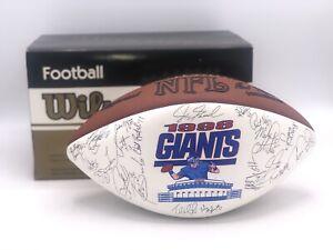 Wilson NFL 1998 New York Giants Football Signatures