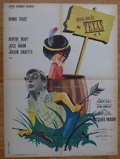MON ONCLE DU TEXAS H. Tisot J. Hahn 1962 Affiche Originale 60x80 Movie Poster