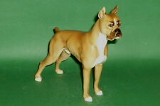 Antique Hutschenreuther Porcelain Figurine Figur Eighties Dog Boxer 16cm
