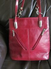 italian red leather classy shoulder bag