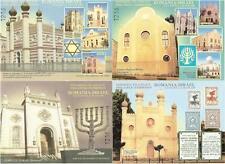 ROMANIA 2000 ISRAEL JUDAICA CINDERELLAS GLOSSY PAPER NH