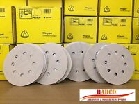 "125mm 5"" 8-Hole Sanding Discs Sandpaper KLINGSPOR Wood Metal Paint Filer Plastic"