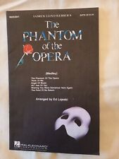 Andrew Lloyd Webber The Phantom Of The Opera Choral Medley Vocal Score Used
