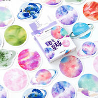 45Pcs/box beautiful planet stickers scrapbooking diary DIY notebook decor GS Z0H