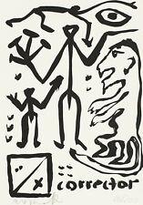 A. R. Penck, Siebdruck, handsigniert und nummeriert.