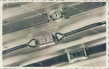 ab109 cartolina fotografica pubblicitaria orologio le coultre