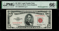 1953 $5 Legal Tender FR-1532 - Graded PMG 66 EPQ - Gem Uncirculated