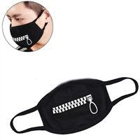 1 Pcs Fashion Unisex Cotton Blend Anti Dust Face Mouth Mask Black for Man Woman