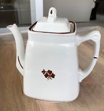 Antique Wedgwood Royal Stone China Tea Leaf - Tea /Coffee Pot England
