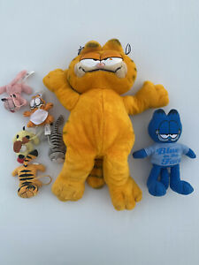"Vintage Garfield 12"" Plush 1978 1981 Vintage Blue Garfield And 2007 Mini Plush"