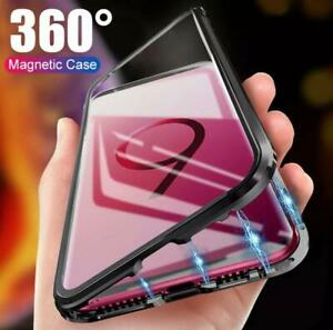 Metal Magnet Shockproof 360 Protection Back & Front Hard Case Cover for Samsung