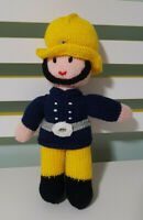 KNITTED FIREMAN PLUSH TOY SOFT TOY 30CM TALL!