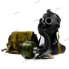 Soviet russian Gas mask PDF-7 black rubber. Mask+hose. New full set.
