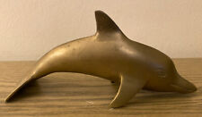 Solid Brass Dolphin / Porpoise Figurine * 3� High x 8� Wide